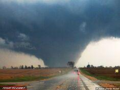 The Davenport, Iowa EF4 near peak strength.