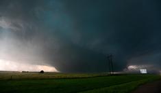 The tornado at peak strength at 8:14 PM.
