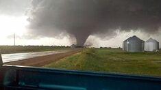 The Lincoln County, Oklahoma EF4 near peak strength.