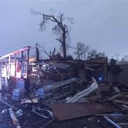 EF2 damage in Hattiesburg, MS on January 21, 2017