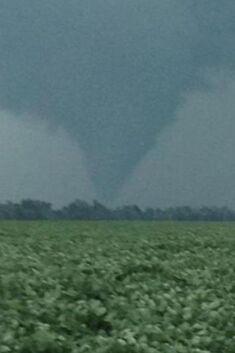 The tornado at peak strength