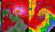 Joplin tornado on radar