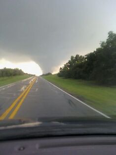 The Newcastle, Oklahoma EF3 near peak strength.