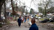 High end EF2 damage in New Orleans