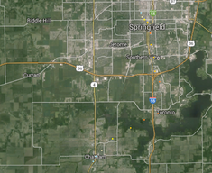 Track of the EF4 tornado that hit Springfield, Illinois