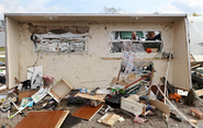 EF2 damage to a mobile home in New Orleans