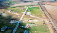 Possible EF5 damage in Springfield, Illinois