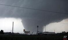 The Worcester, Massachusetts EF5 tornado near peak strength.