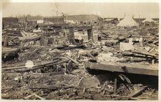 Tornado damage in Elwood, Indiana
