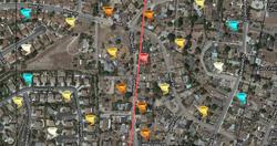 Vista CA tornado path - Highland Drive.png