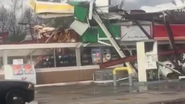 EF2 damage in GA on January 22, 2017