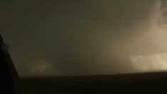 The Clarksville, Texas EF3 near peak strength.