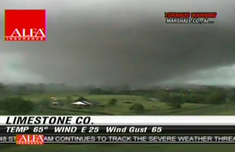 A News Cam Photo of the Tornado as it started to affect Duluth