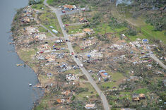 EF4 and EF5 damage near Elie, Manitoba from the EF5.