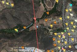 Vista CA tornado path - Agua Hedionda Creek.png