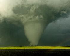 The tornado as an EF4 south of Addington.