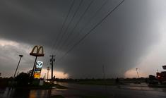 Tornado at peak strength at 4:12 pm.