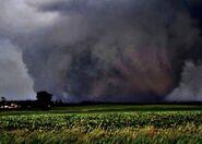 Tornado as it thunders in