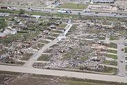 Aerial view of 2013 Moore tornado damage