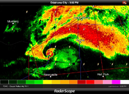 Moore OK tornado 2013 on radar