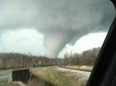 The tornado near Providence, Kentucky