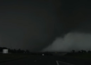 Moore tornado crossing highway