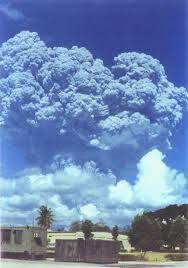 The Eruption as seen from over 50 miles away