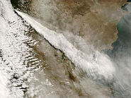 Plume from eruption of Chaiten volcano, Chile