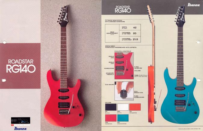 1988 Roadstar RG140 dealer sheet.png