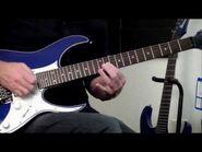 Ibanez RG550XH Demo Blue Sparkle BSP 30 Fret Electric Guitar