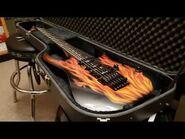 1987 Ibanez RG560 USA DiMarzio Pickups Custom Flame Graphic Up Close RG Guitar Video Review