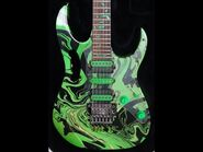 IN DETAIL- IBANEZ JEM 77 GMC Green Multicolor STEVE VAI Rare Guitar Upclose no Pia