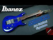 Ibanez JS1000-BTB 2002 Burnt Transparent Blue Joe Satriani Signature Chrome guitar close up video