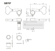 Gotoh GB707 dimensions