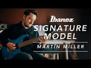 Martin Miller with his Signature 7-String Guitar Ibanez MM7