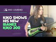 Kiko shows his new Ibanez KIKO200 -legendado-