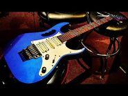 Ibanez Jem7V Blue Sparkle Jem 7 Fujigen Guitar - Up Close Video Review