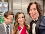 Nathan Kress, Miranda Cosgrove and Jerry Trainor on set May 14, 2021
