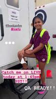 Jaidyn outside her trailer Jun 24 2021