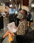 Franchesca Ramsey on set
