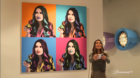 Carly in a gallery Trailer