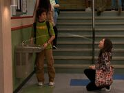 Seth helps Carly with the Water Fountain.JPG
