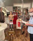 Jerry Trainor, Miranda Cosgrove and Franchesca Ramsey on set