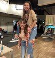 Miranda Cosgrove and Amanda Cerny on set May 22, 2021