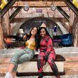Carmela Zumbado and Laci Mosley on set May 29, 2021