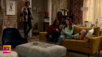 ET Spencer enters Carly and Harper's apartment