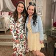 Miranda and Esther on set