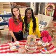 Miranda Cosgrove and Laci Mosley on set Apr 14, 2021 (1)