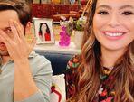 Miranda and Nathan on set Jun 12, 2021