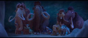 Ice Age Collision Course Herd hiding in Cave.png